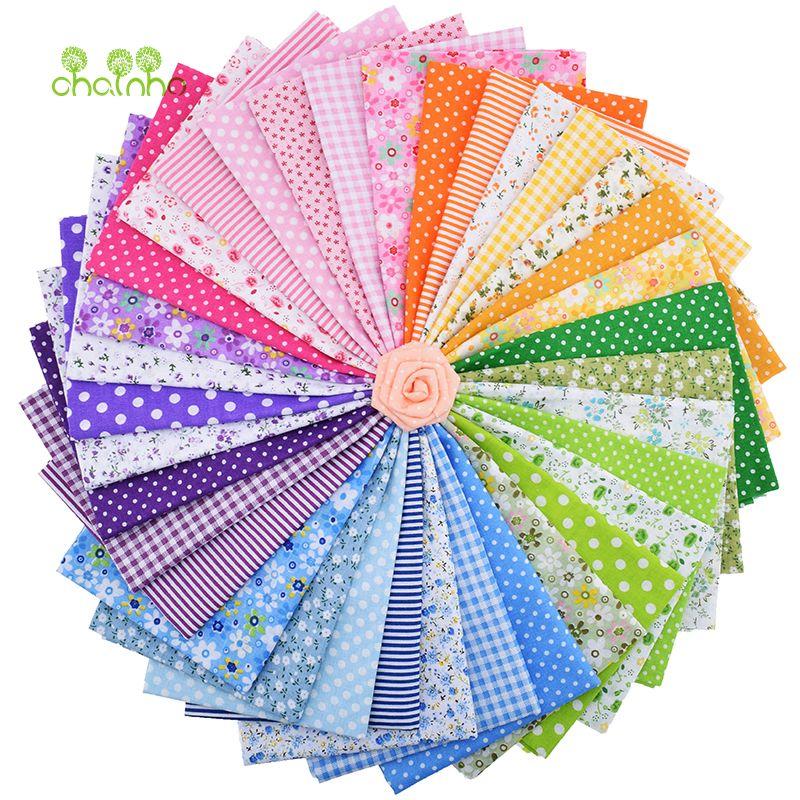 35 pcs/lot Plaine Mince Coton Tissu Patchwork Pour BRICOLAGE Quilting Couture Fat Quarters Bundle Tissu Telas Tilda Couture 50*50 cm