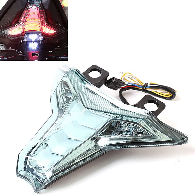 Motorcycle LED Tail Rear Light Assembly Moto Brake Turn Signal Blinking Lamp For Kawasaki Z1000 2014-2016 Ninja ZX10R ZX-10R ABS