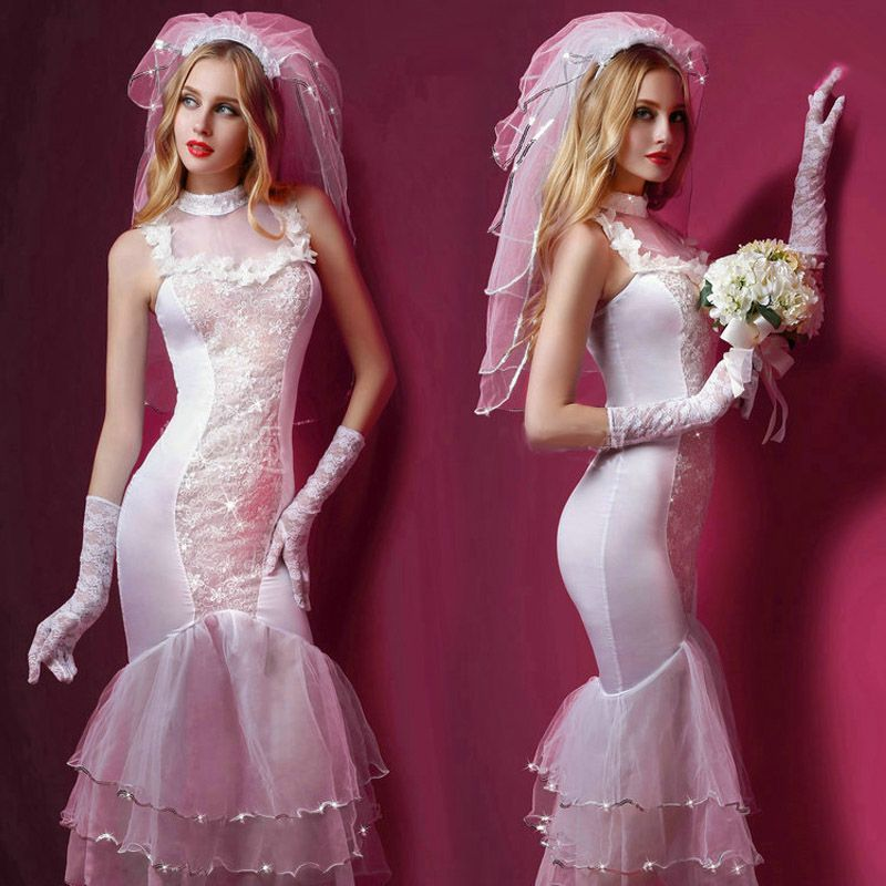New Porn Women Lingerie Sexy Hot Erotic Wedding Dress Cosplay White Erotic Lingerie Porno Costumes Transparent Sexy Underwear