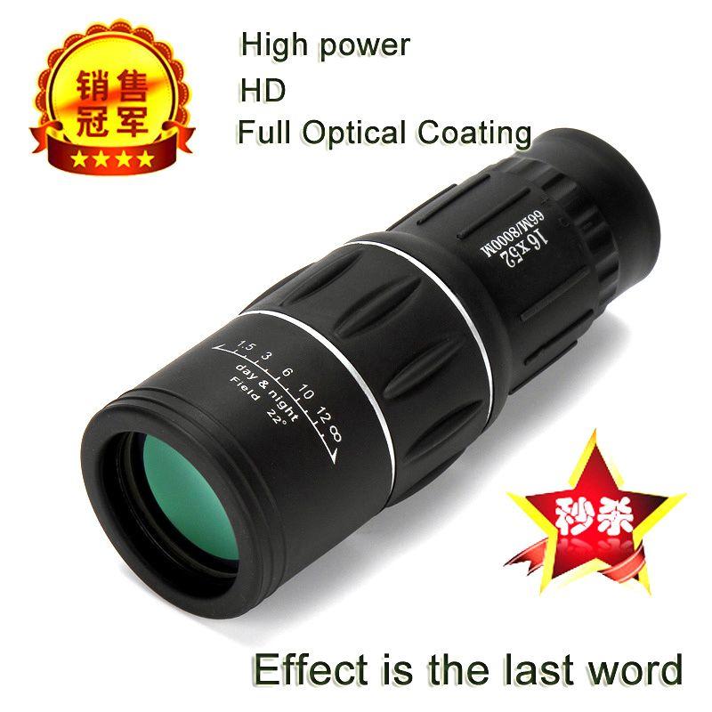 Télescope monoculaire haute puissance HD 16X52 jumelles de Sniper tourisme Spyglass LLL Vision nocturne pour Camping chasse enfant cadeau