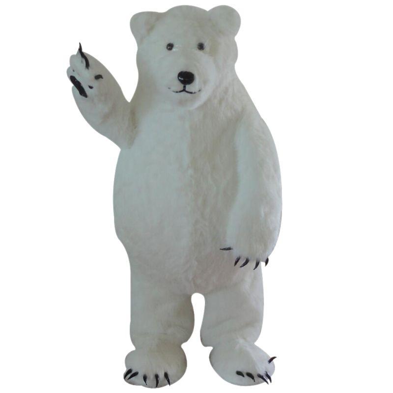 Custom Made White Polar Bear Mascot Costume White Bear Cosplay Mascot Custom for Halloween