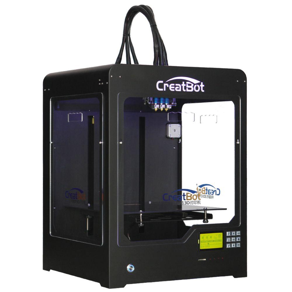CreatBot 3d printer DX03 300*250*300mm Triple Extruder Metal Frame brass nozzle Best Selling DIY 2KG abs for free