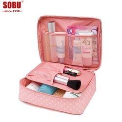 Neceser Zipper Makeup Bag Neceseries Cosmetic Bag Women's Travel Cosmetic Bags Beautician Vanity Necessary Wash Pouch R047