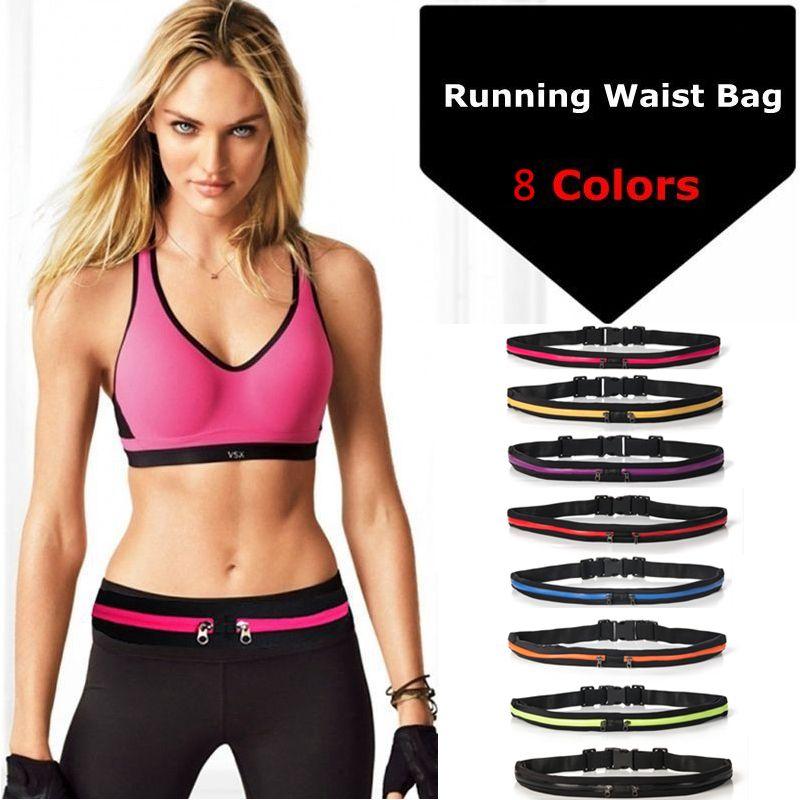 New Running Bag Waist Pocket Jogging Belt Sports Waterproof Travel Cycling Pack Bag Outdoor Phone anti-theft Pack Belt Sport Bag