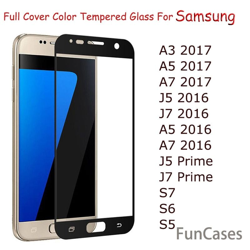 Full Cover Tempered Glass For Samsung Galaxy A8 J2 2018 A3 A5 A7 J3 J5 J7 2017 2016 S7 S6 J5 Prime J7 Prime Screen Protector