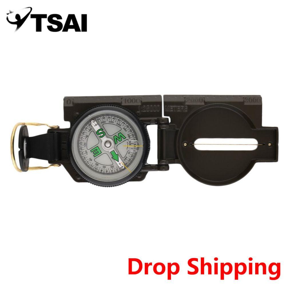 Heiße Verkauf Portable Faltung Objektiv Kompass Amerikanischen Militärische Multifunktions Neue NVIE neue ankunft