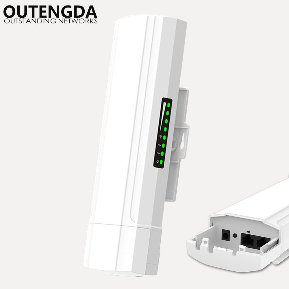 OUTENGDA 450 Mbps 3Km Outdoor CPE AP 5,8 Ghz WiFi Brücke Router Wireless Wlan Repeater Eingebaute 14dBi Antenne mit Poe Adapter