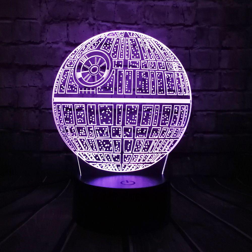 Vente chaude Film Star Wars 3D USB LED Lampe Astro de Bande Dessinée mort Étoiles Coloré Balle Ampoule Ambiance de Nuit De lave Lumières éclairage Cadeaux