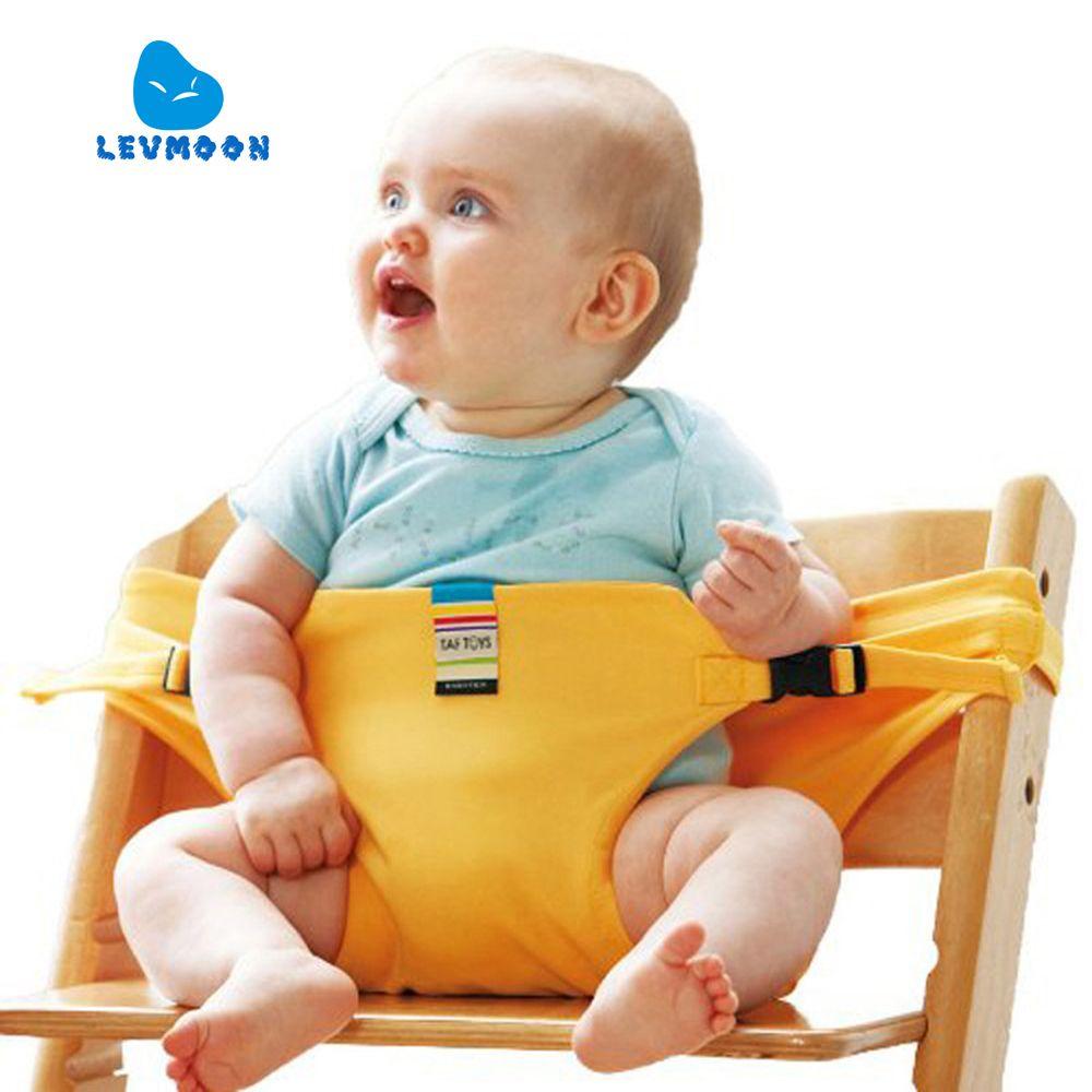 Levmoon chaise Portable siège salle à manger déjeuner chaise siège ceinture de sécurité Stretch Wrap alimentation chaise harnais siège Booster