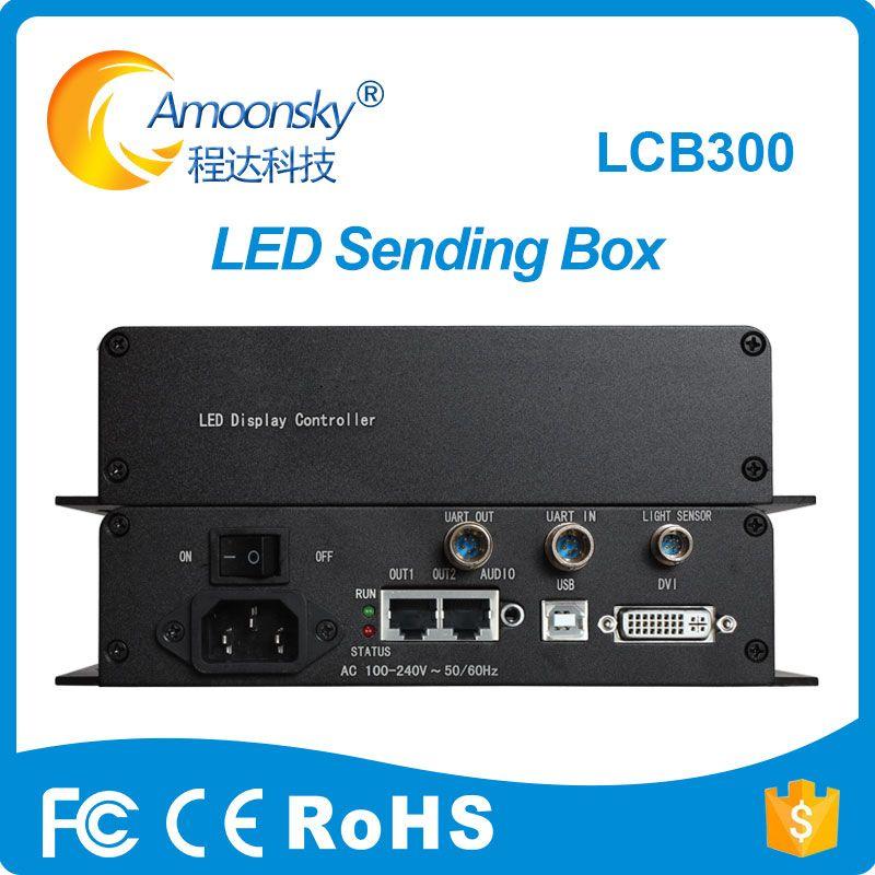 LCB300 sender box mit MSD300 senden karte eingebaute Meanwell netzteil led externe senden box gleiche wie novastar mctrl300
