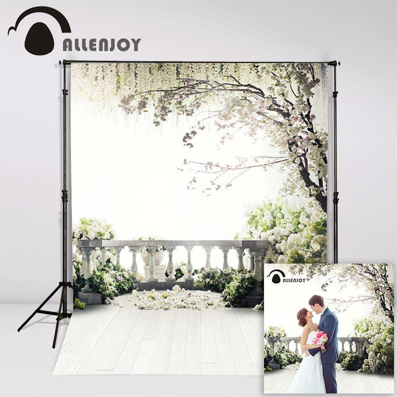 Allenjoy 300x200 cm (6.5ftx10ft) Fleurs Photo Fond arbres jardin loft de mariage Photographie décors Studio Intérieur Photos
