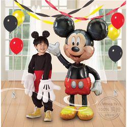 Mtrong Te 2 piezas Mickey Mouse aluminio globos cumpleaños fiesta decoración bowknot rojo minnie juguetes clásicos Mickey partido suministros