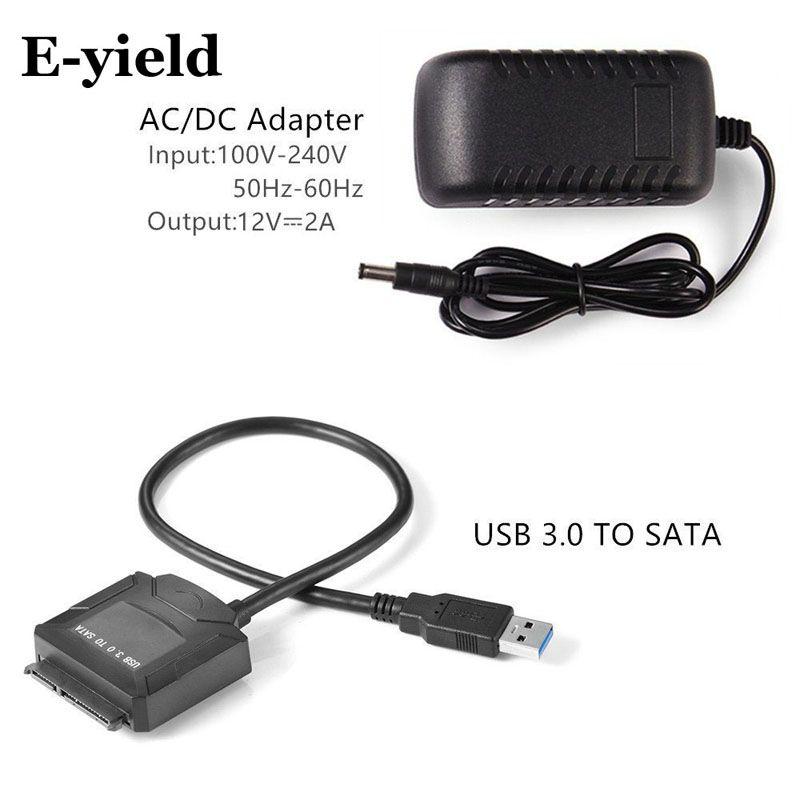 Sata adaptateur câble USB 3.0 vers Sata convertisseur 2.5 3.5 pouces Super vitesse disque dur pour HDD SSD USB 3.0 vers Sata câble