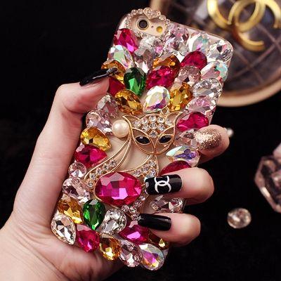 Luxus Handgemachte Bling Diamant Strass Telefon Abdeckung Fall Für LG G2 G3 G4 G5 G6 G3 Stylus D690 Blumen Mode Zurück Abdeckung