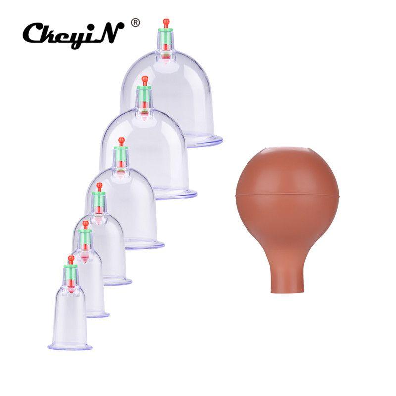 6 Pcs Ganze Körper Massage Schröpfen Set Chinesischen Vakuum Therapie Tasse Professionelle Vakuum Akupunktur Schröpfen Tassen Zerstreuen Feuchten Pumpe 35