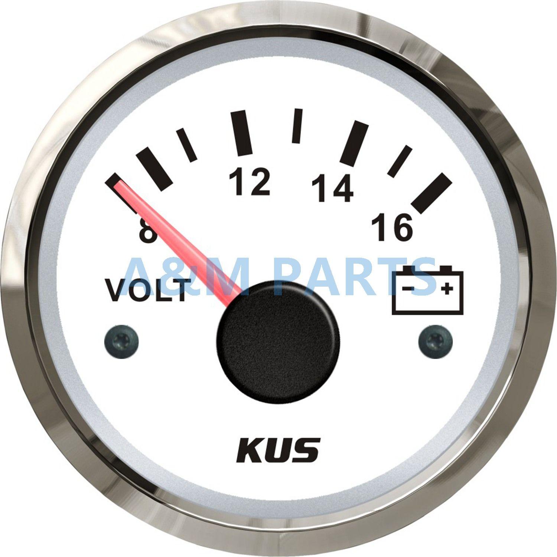 WEMA Marine Voltmeter KUS Marine Battery Gauge Electrical Car Truck Range 8-16V