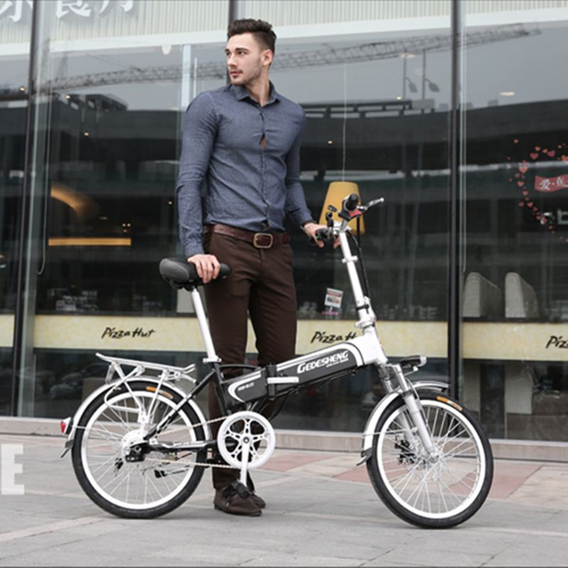 16/20 inch 7 Speed 48V/240W Folding Electric Bicycle for Men & Women, Electric Bike, E-Bike, Lithium Battery Assistant Bicycle