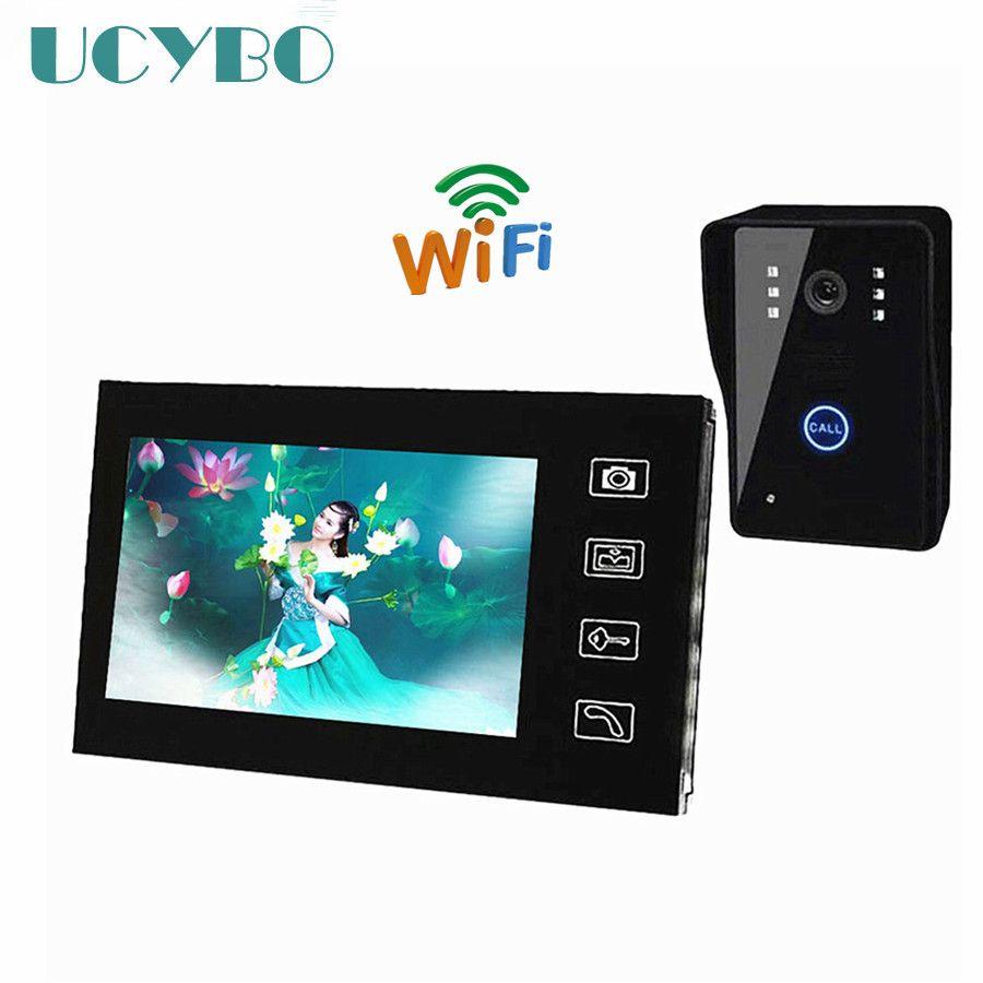 7 zoll Wireless home Video-türsprechanlage wifi Monitor Video Türklingel Intercom türsprechanlage System Nehmen Bilder überwachungskamera