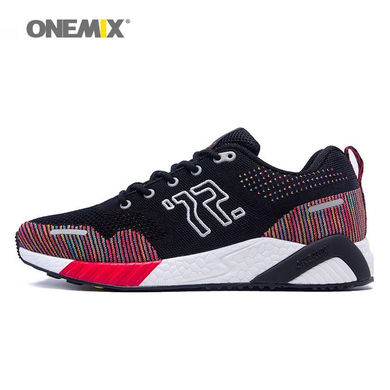 ONEMIX 2018 Men Badminton Shoes For Women Light Classic Athletic Trainers Sport footwear Jogging Tennis Outdoor Walking Sneakers