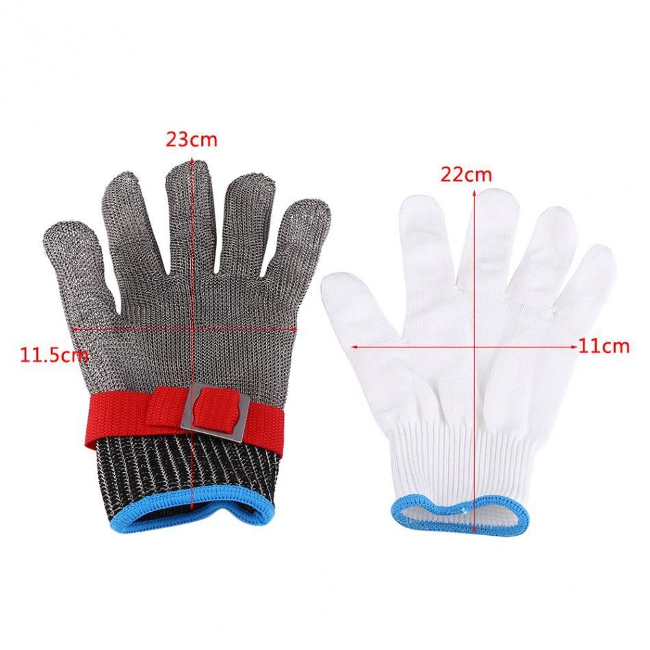 Edelstahl draht metall grid metzger anti-messer schutz werkzeug 1 stück sicherheit handschuhe SS304 mesh anti-schneiden stab
