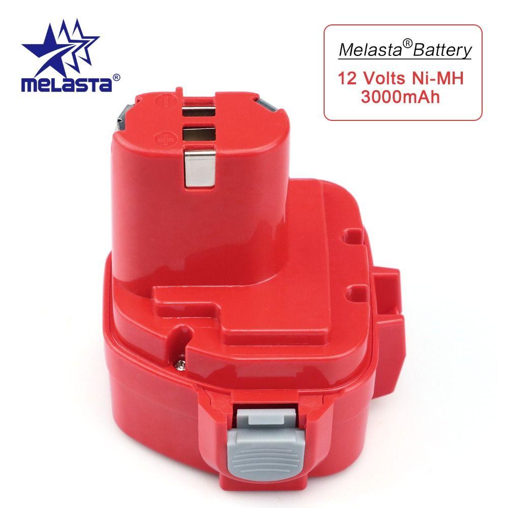 MELASTA Mise À Niveau 12v 3000mAh NIMH Remplacement Batterie pour Makita 1220 PA12 1222 1233S 1233SA 1233SB 1235 1235A 1235B 192598-2