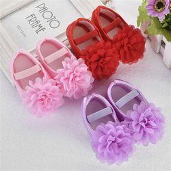 Tres estilo bebé bloved niños niño gasa flor banda elástica recién nacido zapatos para caminar para edad 0 ~ 18 meses baby17De11