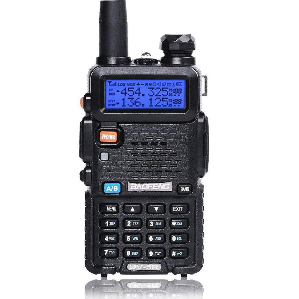 Baofeng UV-5R 136-174/400-520 MHz Talkie Walkie 5 W VHF UHF Dual Band Portable Ham Two way Radio Émetteur-Récepteur
