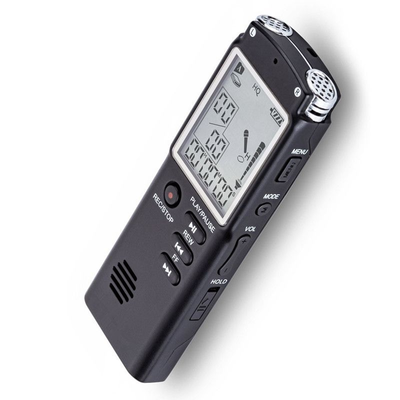 8GB Original High-Quality Digital Audio Voice Recorder a key lock screen Telephone Recording Real Time Display with MP3 Player