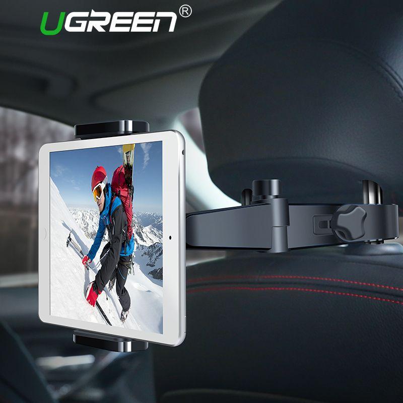 Ugreen Tablet Holder <font><b>Stand</b></font> for Samsung Back Seat Car Mount Holder for iPad Tablet 360 Degree Car Phone Holder for iPhone 8 X 6S