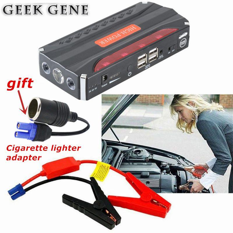 Emergency Car Jump Starter Starting Device 600A 12V Power Bank LED Lighter Starer Car Charger For Car Battery Booster Buster