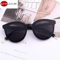 Uvlaik Брендовая Дизайнерская обувь кошачий глаз женские очки негабаритных солнцезащитные очки Cat Eye винтажные женские очки