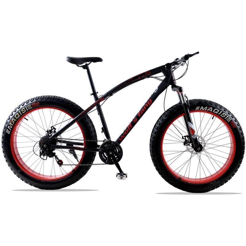 mountain bike 7/21speed bicycle 26x4.0 fat bike Spring Fork snow bike road bike Front and Rear Mechanical Disc Brake bicicleta