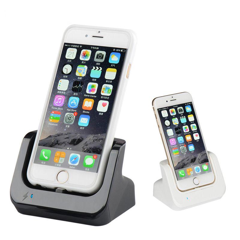 Synchronisation des données USB chargeur Dock Station Station de chargement berceau Station de chargement pour iphone SE 5 5 S 5C 6 6 S Plus 7 8 avec câble USB