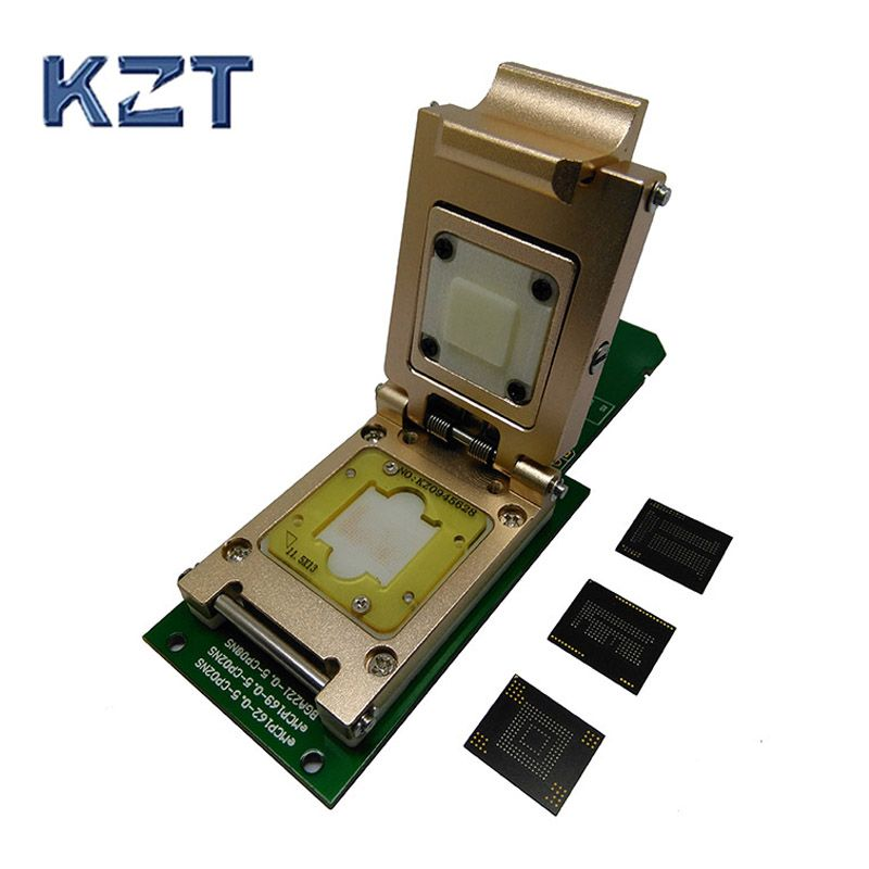 eMMC socket eMMC153/169 eMCP162/186 eMCP221 Pogo Pin Test Socket Reader BGA153 169 162 186 Data Recovery SD Interface
