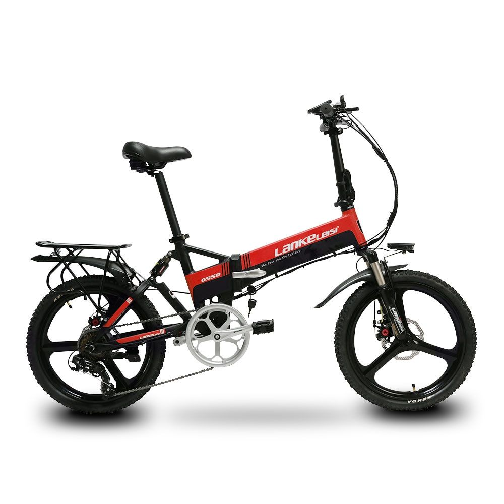 Cyrusher G550 Electric Folding Bike 240W 48V 10AH Full Suspension 7s 5 Setting Smart Computer electric odometer foldable ebike