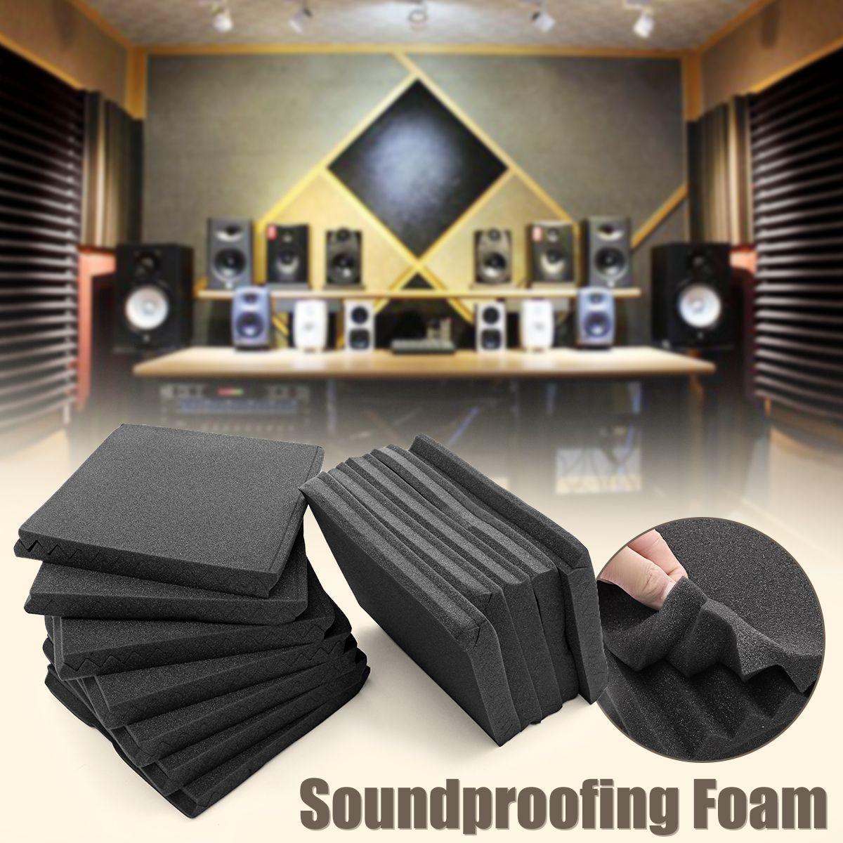24Pcs 30x30cm Soundproofing Foam Acoustic Foam Sound Treatment Studio Room Noise Absorption Wedge Tiles Polyurethane Foam