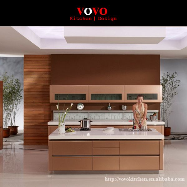 Modern lacquer high gloss kitchen cabinet