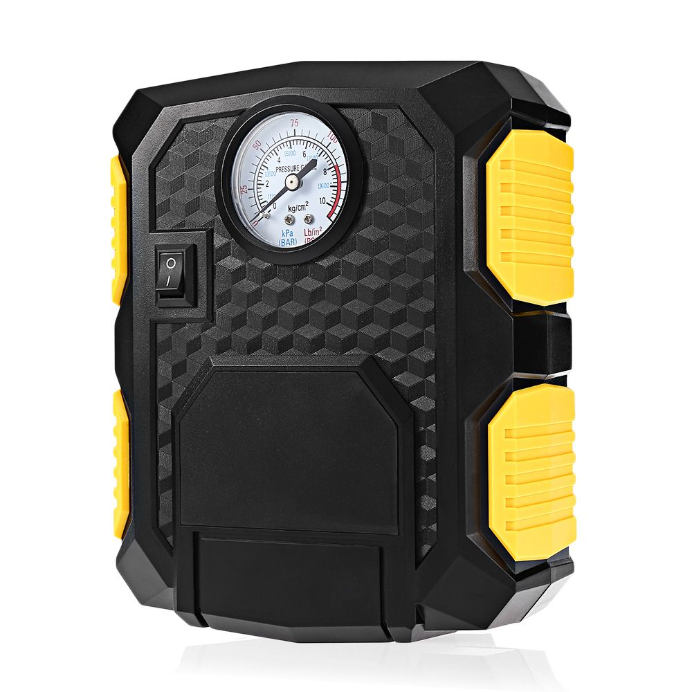 Portable 12V 100PSI Air Compressor Car Tire Inflator Pump Inflating Lighting Multiple Nozzles Infatable Pumps for Auto Moto