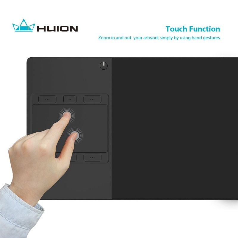 New Huion G10T Wireless Graphics Drawing Tablet Professional Digital Pen Tablets with Finger Touch Function and Free Gift Glove