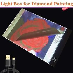 5D Diamond Painting drawing Tablet A4 LED Light Box Table Board Pad Crystal Rhinestone Embroidery Diamond Painting Accessories