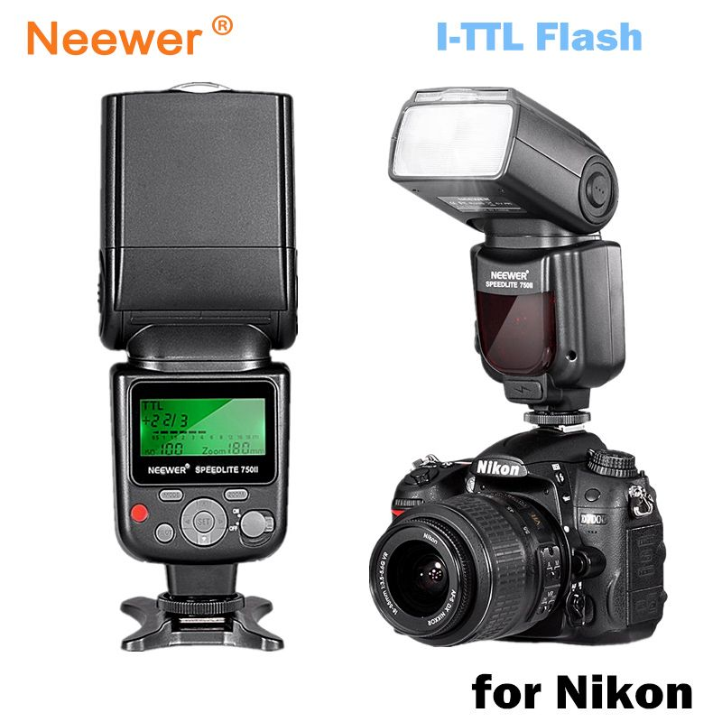 Neewer VK750 II i-TTL Speedlite Flash w/ LCD Display for Nikon D7100 D7000 D5300 D5200 D700 D600 D90 D80 D80 Digital SLR Camera