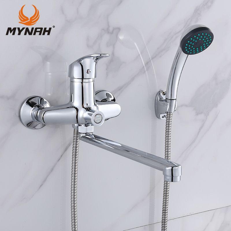 MYNAH Bad Wasserhahn Badezimmer Duscharmatur Wasserhahn Bad Dusche Mixer System Kalten und Warmen Dusche mit Mixer Kupfer M22290