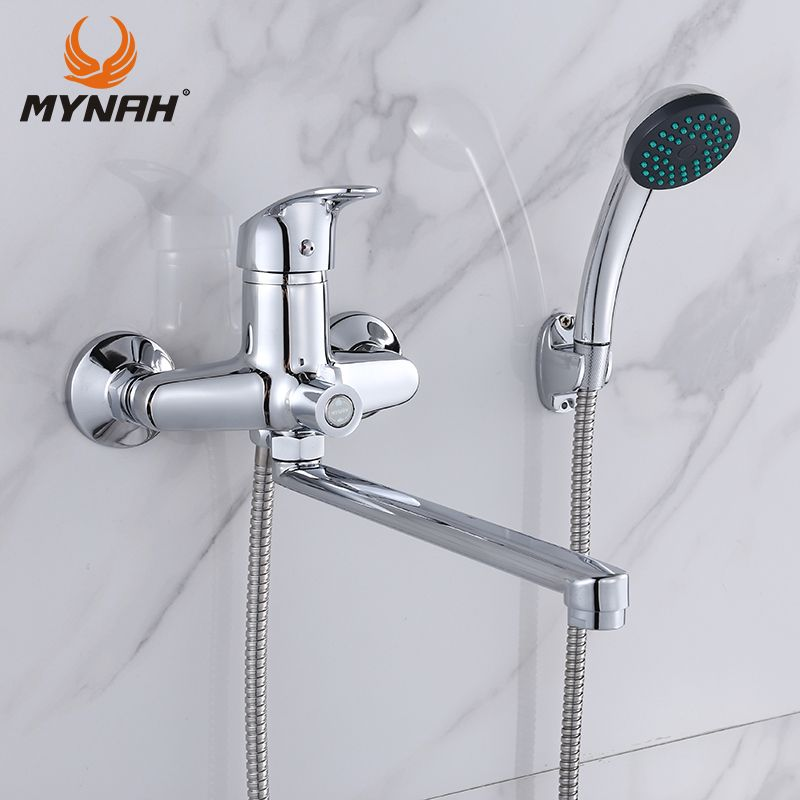 MYNAH Bathroom Faucet Bathroom Shower Faucets Bath Tap Bath Mixer Shower System Cold and Hot Shower with Mixer Copper M22290