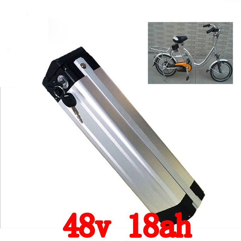 Bottom Discharge 1000W 48V 18AH lithium battery 48V Electric Bike Battery Use for samsung 3000mah cells with 2A charger and BMS