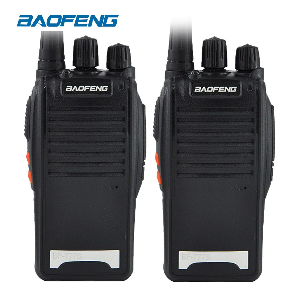 2PCS Original BaoFeng BF-777S long range wireless UHF 400-470MHz power 5W Two-way Radio Waterproof Walkie Talkie portable radio