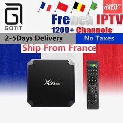Français Android IPTV Boîte X96 MINI 4 K UHD 1200 + France NEOPlus Pro Europe Arabe BelgiumTunisia Maroc IPTV Smart OTT Set top boîte