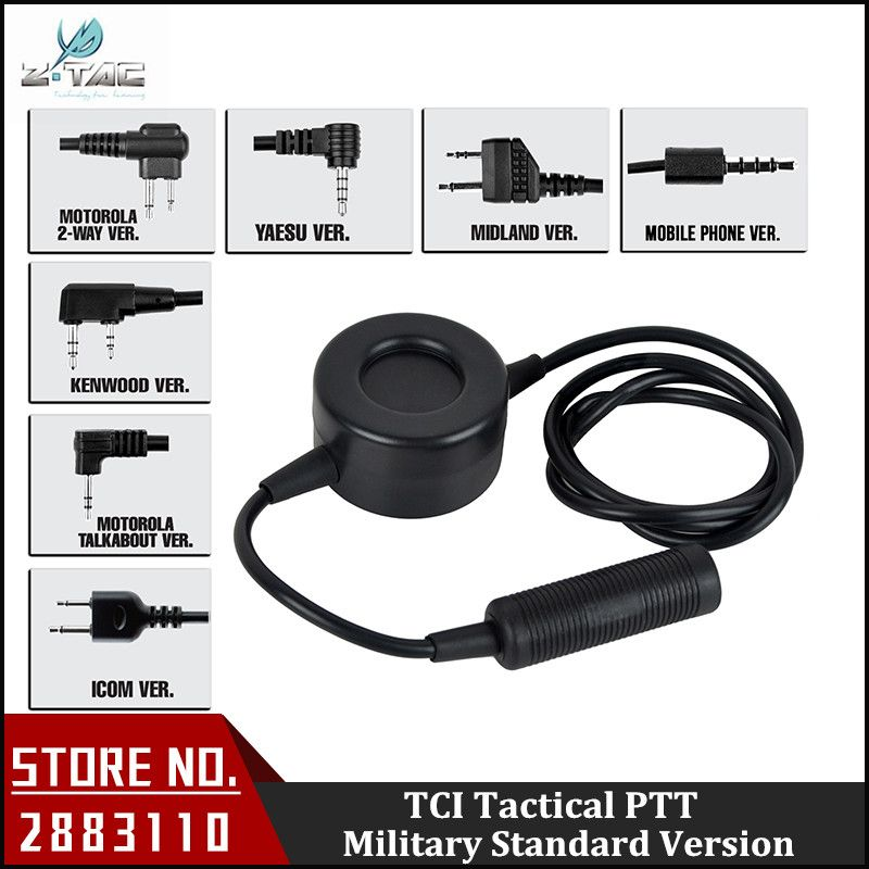 Z-Tactical Waterproof PTT Comtac II He50 zSORDIN HD03 Headset for Motolora Talkabout/ 2-way/Kenwood/ICOM/Midland Radio Z114
