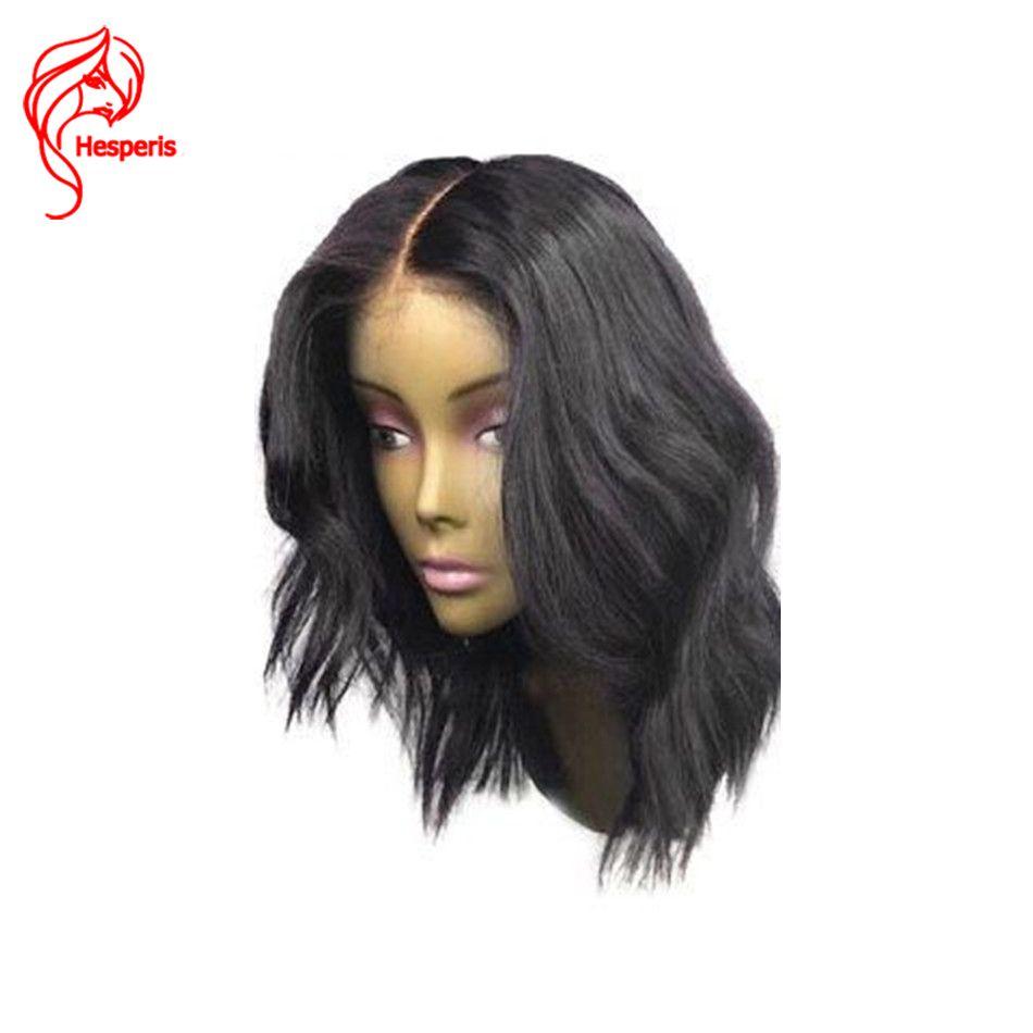 13*6 Natürliche Welle Brasilianisches Haar Tiefe Teil Vordere Perücke Menschenhaar mit Babyhaar Kurze Bob Perücken Für Schwarze Frauen Gebleichte Knoten