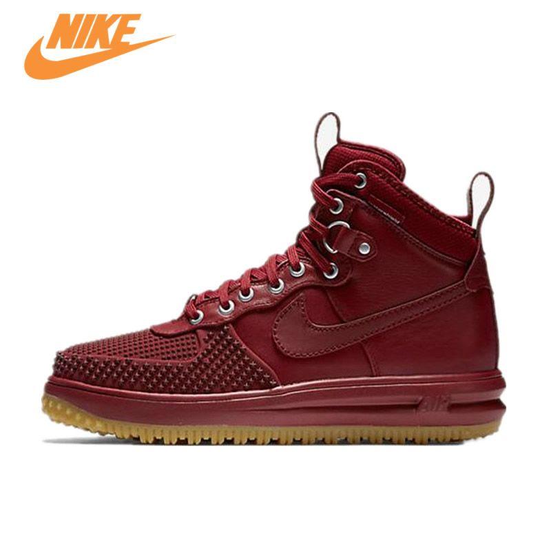 Оригинальный Новое поступление Officail Nike унар Force 1 duckboot AF1 Скейтбординг Мужская обувь кроссовки