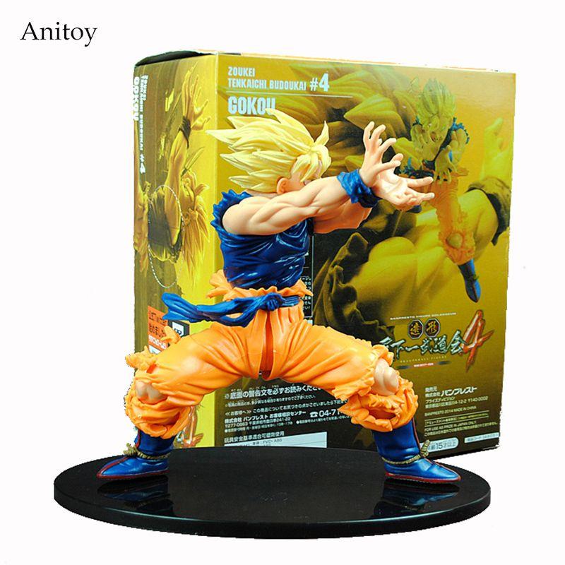 Anime Dragon <font><b>Ball</b></font> Z Son Goku Super Saiyan PVC Action Figure Collectible Model Toy 17CM KT4200